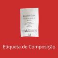 Etiqueta de composição personalizada - pacote com 56 unidades