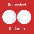 Bojo Redondo Removível - Pacote com 10 pares - Tamanho Único (9,5cm de diâmetro)